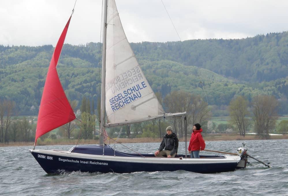 Segelboot vom Typ Varianta K3 in der Bootsvermietung